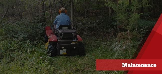 Razorback mower maintenance